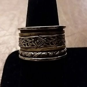 Silpada Twirl Ring Size 9